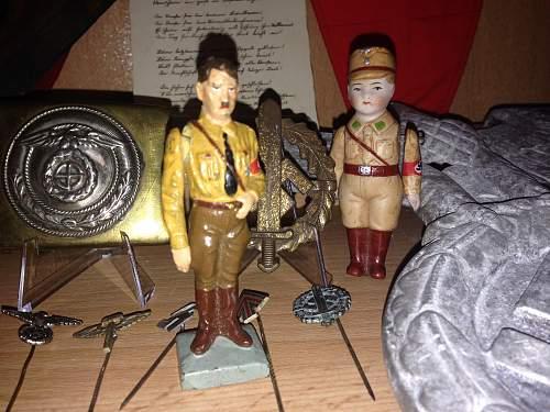 Interesting small SA Brownshirt Ceramic Figure