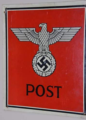 3rd Reich Post sign