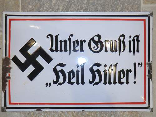 Click image for larger version.  Name:OUR GREETING IS HEIL HITLER METAL PLAQUE 1.jpg Views:1097 Size:306.8 KB ID:716003