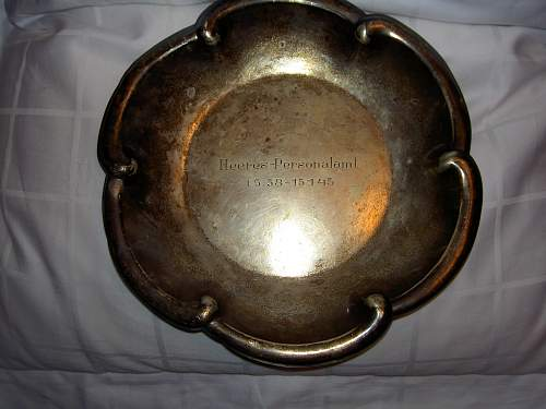 Heeres-Personalamt silver dish