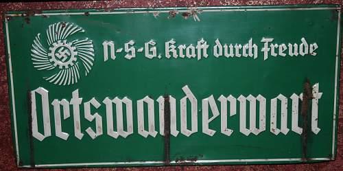 Enamel III Reich Signs