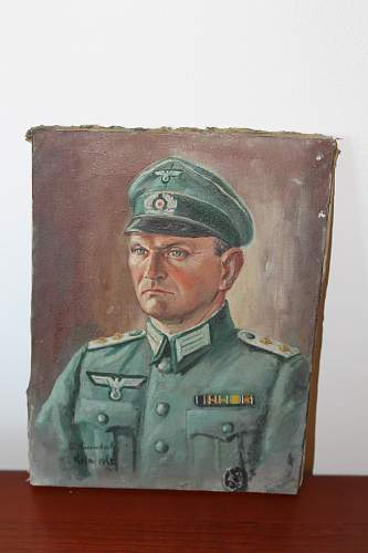 Oil Painting of German Officer 1943 Signed Any info appreciated.