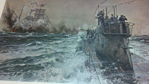 German U-Boat Art (Oil Paintings)