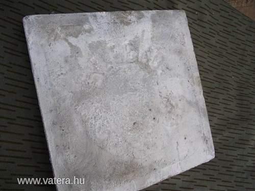 German WW2 floor tile from Hungary