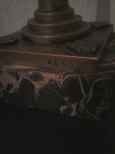 Kriegsmarine desk clock
