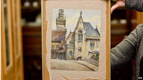 'Hitler' painting fetches 1,000