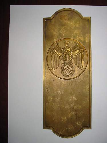 Ever seen a brass plate like this before?