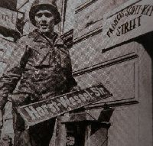 Horst Wessel Way Blue Enamel Street Sign