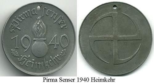 Click image for larger version.  Name:Heimkehr 1940 medal.jpg Views:57 Size:137.1 KB ID:780917