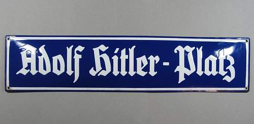 Adolf Hitler - Platz Street Sign