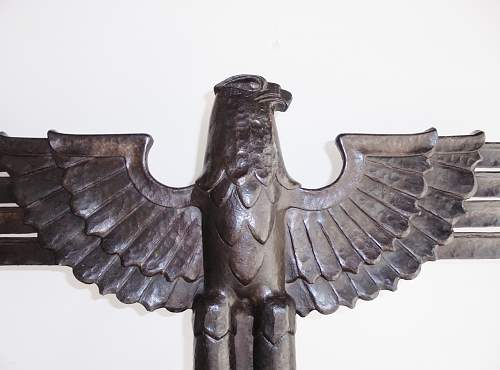 Huge hand forged iron eagle to identify...