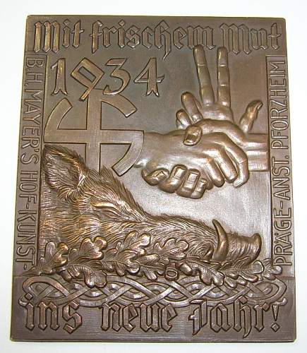 B.H. Mayer new years plaque?