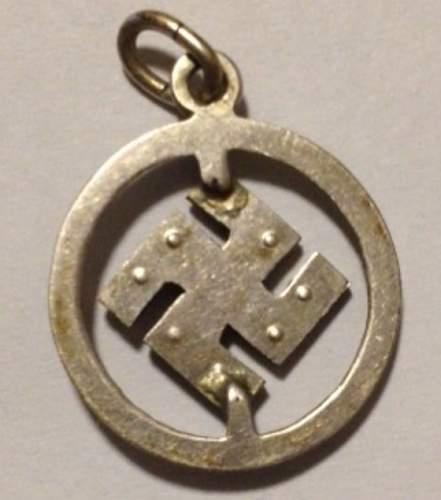 Third Reich era jeweled swastika pendant