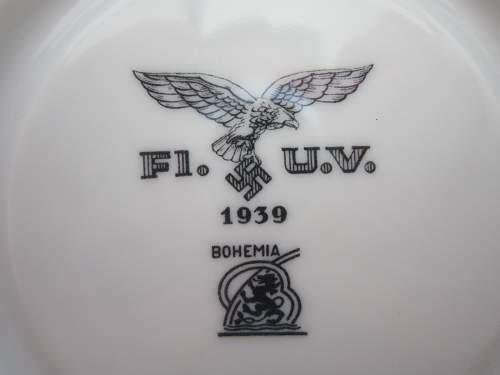 Luftwaffe Porcelain saucer.