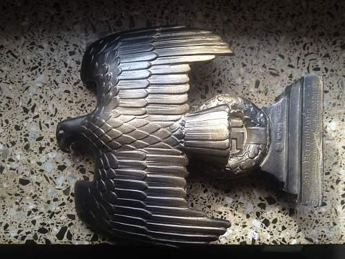 opinion needed  German desktop  reichsparteitag eagle  gift from  wedding