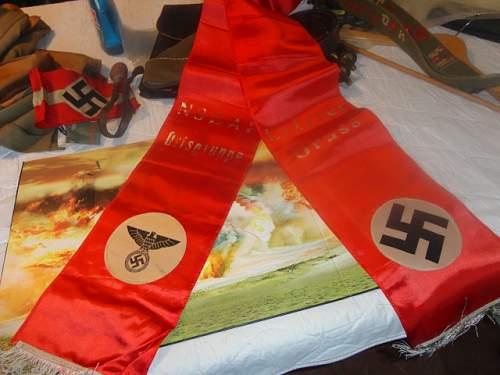 NSDAP Funeral Sash or large Ribbon