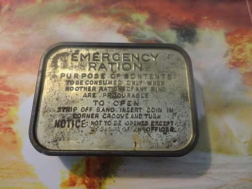 Interesting British ration with  German surprise