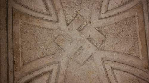 Marble or stone EK with swastika...opinions