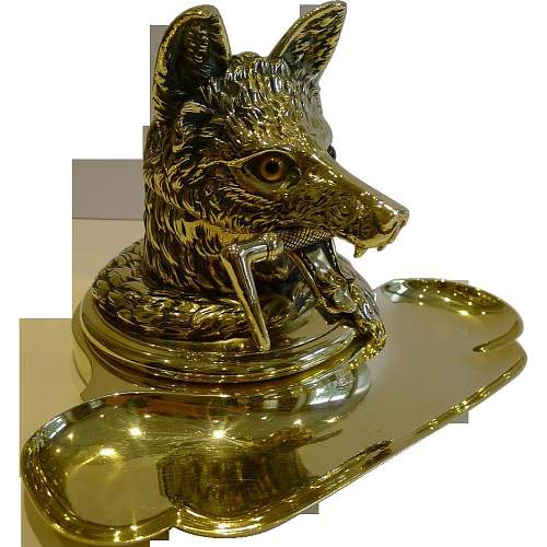Click image for larger version.  Name:Fox Ashtray.jpg Views:32 Size:118.0 KB ID:829253