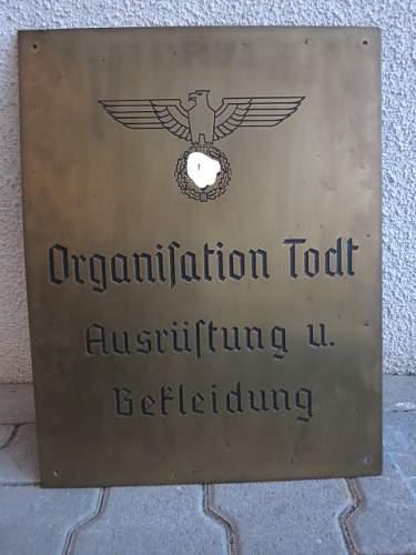 Organization Todt wall plaque...opinions