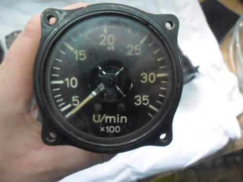 German Plane Cockpit Instruments