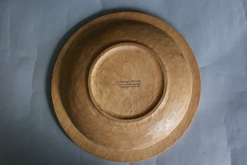 Nice German wooden bread plate