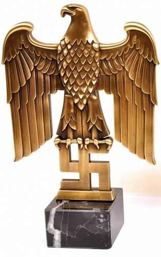 Bust and Eagle Desk Decoration