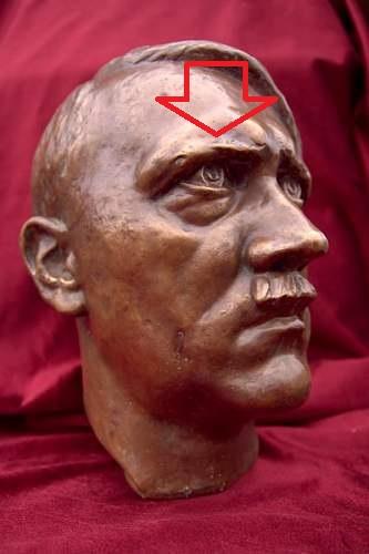 Big Hitler's bust