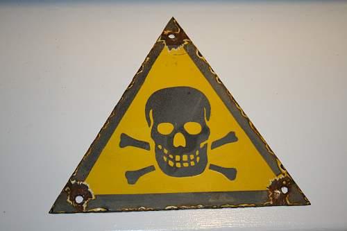 Original German Danger sign?