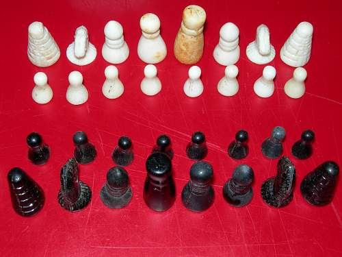 Dug Glass Chess Set-Complete!