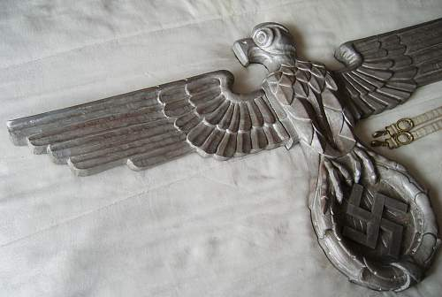 Wall wooden eagle