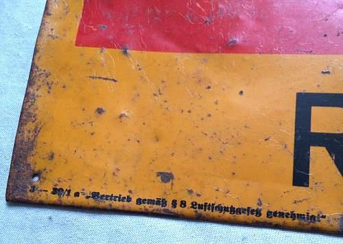 Luftschutz Rettungsstelle Enamal Sign