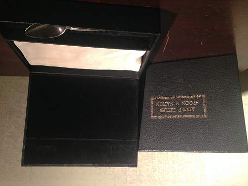 Mystery Hitler Spoon/Napkin box combo? Engraved set?