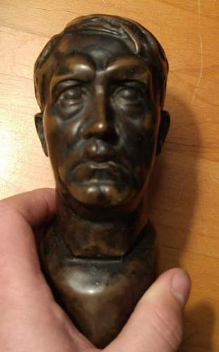 Antique shop Hitler bust