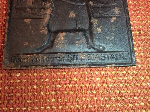 Interesting German plaque.