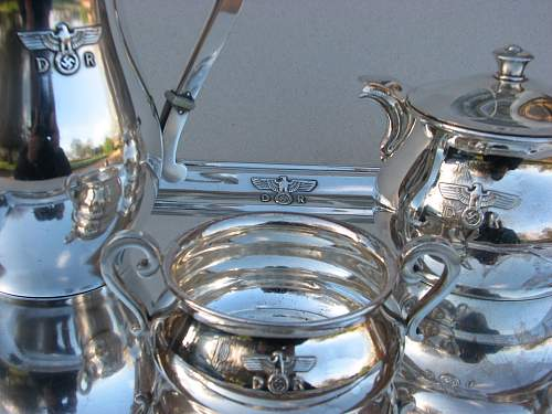 DR German Railroad Hitlers Train Dining Car 10244 Silver Plate Cup