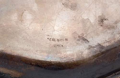 Adolf Hitler signaturen platte of silber from the Aviso Grille