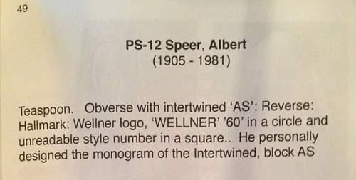 Albert Speer teaspoon