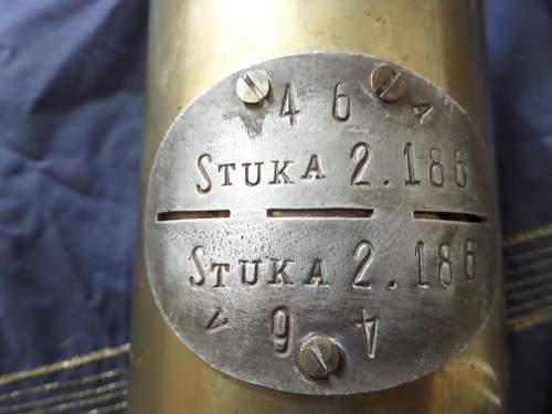Interesting JU87 trench art