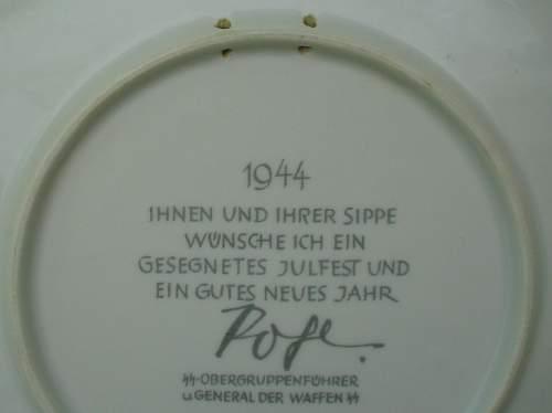 Julfest-Platte 1944 Pohl