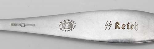 SS reich Original Olympia mess hall Fork..... original or not?