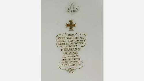Herman Goring cigar ashtray