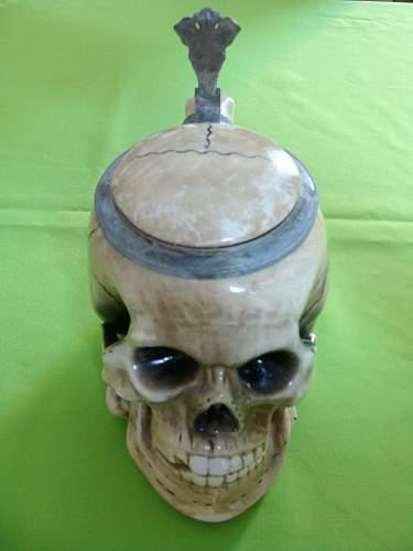 WW2 German Skull Beer Stein - Thoughts?