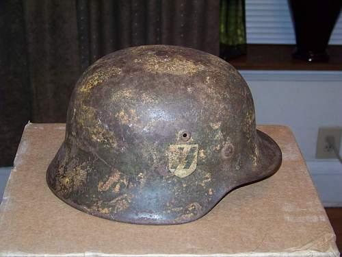 Normandy SS camo helmet found