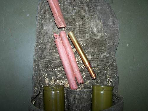 Some of the untouched grenades from the war time found