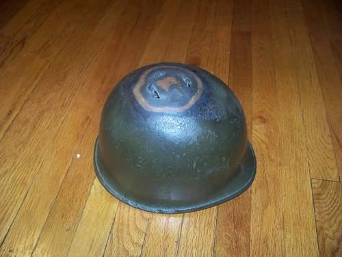 M1 helmet for cooking Normandy.