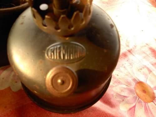 Riemann carbide lamp from friend