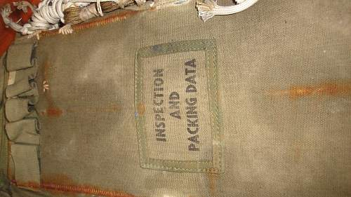 parachute bag found in a barn in the south of holland
