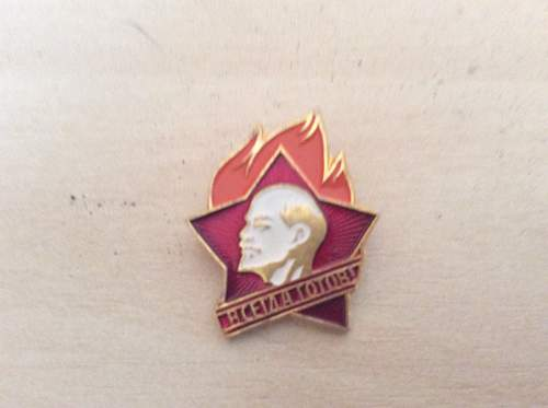 Old pioneer pin