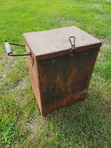 German ww2 crate from coastal fortress